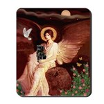 Winged Figure / Black Pug Mousepad