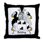 Reding Family Crest Throw Pillow