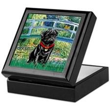 Bridge / Black Pug Keepsake Box