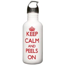 Keep Calm and Peels ON Water Bottle