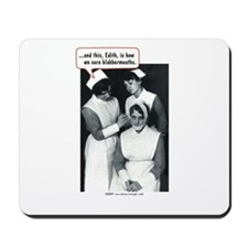 Nurse Blabbermouth Cure Mousepad