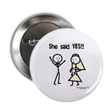 "She Said Yes! 2.25"" Button (10 pack)"