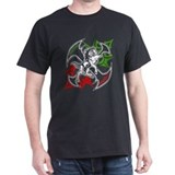 Italian Stallion Tribal Design Black T-Shirt