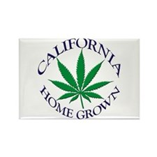 California Home Grown Rectangle Magnet