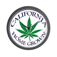 California Home Grown Wall Clock