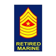 USMC Retired <BR>Sergeant Major Decal