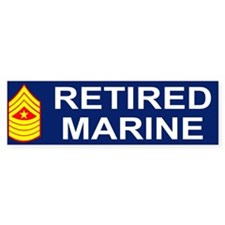 USMC Retired <BR>Sergeant Major Bumpersticker