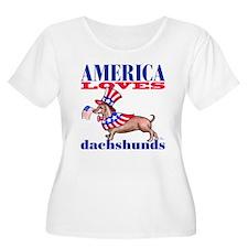 America loves Dachshunds T-Shirt