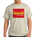 BILL RICHARDSON PRESIDENT 2008 Ash Grey T-Shirt