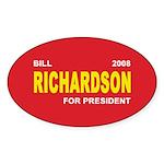 BILL RICHARDSON PRESIDENT 2008 Oval Sticker