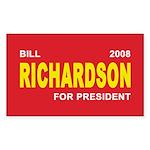 BILL RICHARDSON PRESIDENT 2008 Sticker (Rectangula