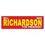 BILL RICHARDSON PRESIDENT 2008 Bumper Sticker