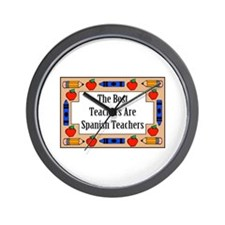 The Best Teachers Are Spanish Teachers Wall Clock