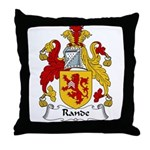 Rande Family Crest Throw Pillow
