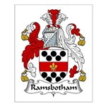 Ramsbotham Family Crest Small Poster
