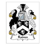 Raines Family Crest Small Poster