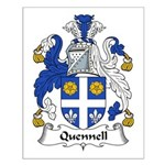 Quennell Family Crest Small Poster