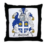 Quennell Family Crest Throw Pillow