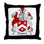 Pynsent Family Crest Throw Pillow