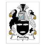 Purefoy Family Crest Small Poster
