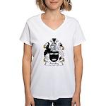 Purefoy Family Crest Women's V-Neck T-Shirt