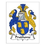 Prudhome Family Crest Small Poster