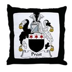 Prest Family Crest Throw Pillow