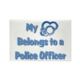 Police Officer Heart Rectangle Magnet
