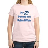 Police Officer Heart T-Shirt
