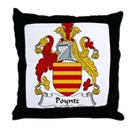 Poyntz Family Crest Throw Pillow