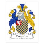 Poynton Family Crest Small Poster