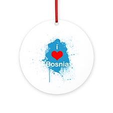 (R) I heart Bosnia Ornament (Round)