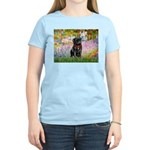 Garden / Black Pug Women's Light T-Shirt