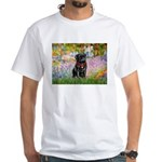 Garden / Black Pug White T-Shirt