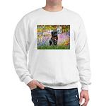 Garden / Black Pug Sweatshirt