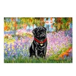 Garden / Black Pug Postcards (Package of 8)