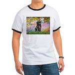 Garden / Black Pug Ringer T
