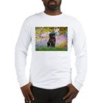 Garden / Black Pug Long Sleeve T-Shirt