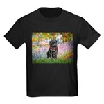 Garden / Black Pug Kids Dark T-Shirt