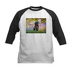 Garden / Black Pug Kids Baseball Jersey