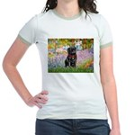 Garden / Black Pug Jr. Ringer T-Shirt