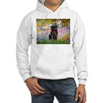 Garden / Black Pug Hooded Sweatshirt