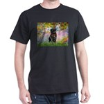 Garden / Black Pug Dark T-Shirt