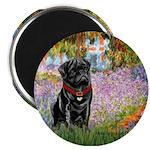 Garden / Black Pug Magnet