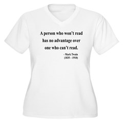 Mark Twain 3 Women's Plus Size V-Neck T-Shirt