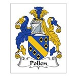 Pollen Family Crest Small Poster