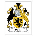 Poley Family Crest Small Poster