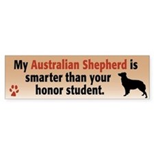 Smart Australian Shepherd bumper sticker