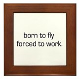 Born To Fly Framed Tile