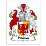 Pitman Family Crest Small Poster